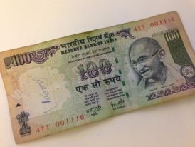 Money India - 100 rupees - Gandhi