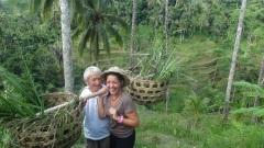 lucie brasseur dans les rizières de bali